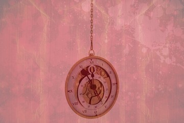 Composite image of hanging pocketwatch