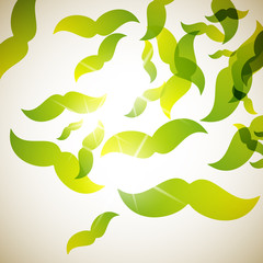 abstract background: mustache