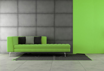 Black and green living room