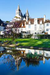 The spring public park in Loches town (France)