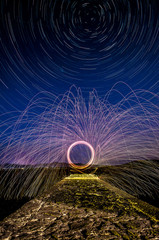 Ligt paintin e star trails