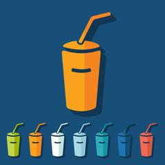 Flat design: soda
