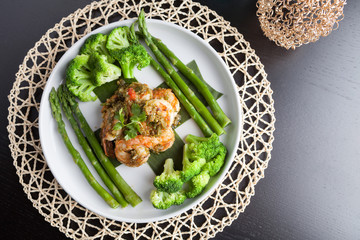 Shrimp Scampi with Asparagus