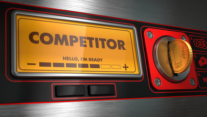 Competitor on Display of Vending Machine.