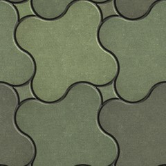 Marsh Color Paving Stone as Quatrefoil.