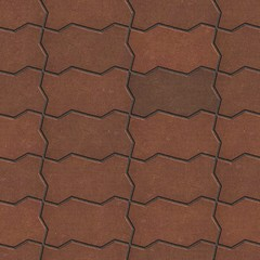 Wavy Paving Slabs in Brown Colors.