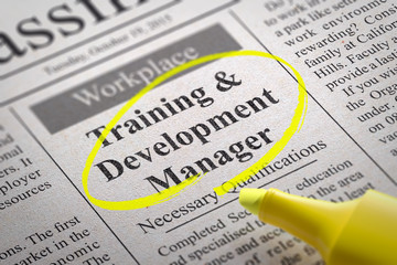 Training and Development Manager Vacancy in Newspaper.