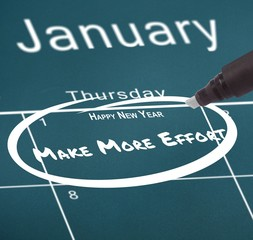 Composite image of new years resolutions