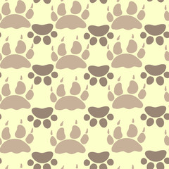 Cat and Dog Textile Pattern. Vector seamless.