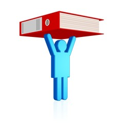 fleißiger Mitarbeiter, Büroarbeit stemmen, wichtige Unterlagen