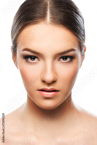 canvas print picture Beautiful woman close up