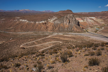Canyon of the Rio Lluta in the Altiplano