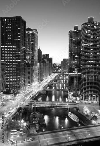 In de dag Grote meren Chicago River-Downtown