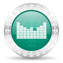sound green icon, christmas button