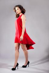 Elegant brunette woman posing.