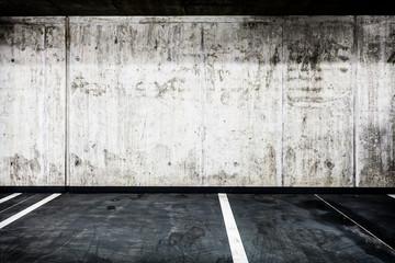 Concrete wall underground garage interior background texture