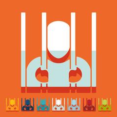 Flat design: prisoner