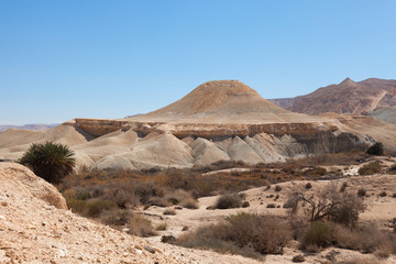 The hill in the form of a flying saucer in the Negev desert