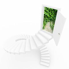 Virtual three-dimensional ladder into new world.