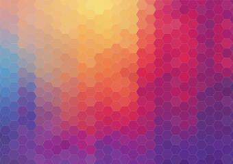 Retro hexagram pattern of geometric shapes