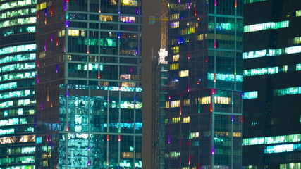 New City center night view, on December 13th, 2014 in Moscow,