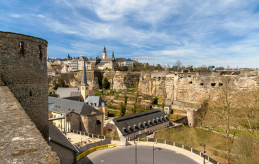 View of Luxembourg city - UNESCO World heritage site
