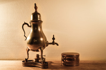 Tea pot on a table