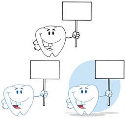 Tooth Cartoon Mascot Character 14. Collection Set