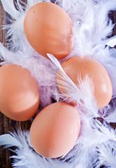 raw eggs