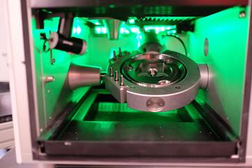 closeup metalworking machine