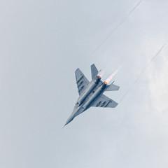 War jet plane in sky