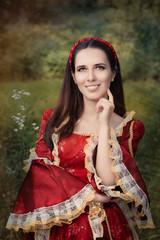 Beautiful Medieval Princess Smiling