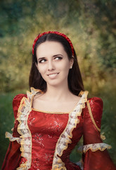 Beautiful Medieval Princess Smiling