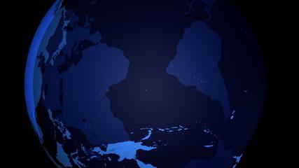 3D Earth - Blue with Alpha