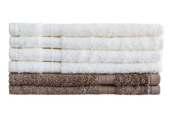 Bath towels. Isolated
