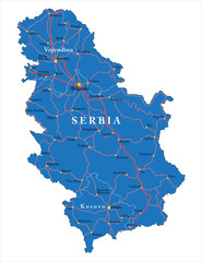 Serbia map