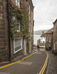 Road to beach at Robin Hoods Bay, Yorkshire