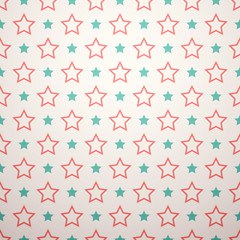 Retro different seamless pattern. Vector illustration