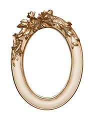Gold flower frame