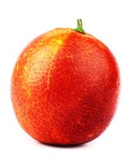 Sicilian red blood orange isolated on white