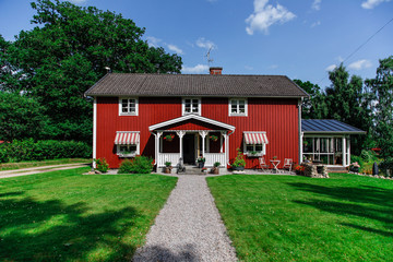 House and garden countryside
