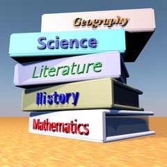 Books with school disciplines