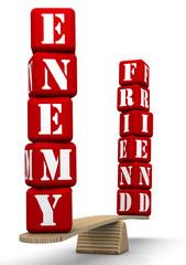 Друг или враг (Friend or enemy). Сравнение на весах