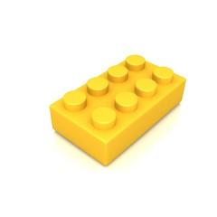 Plastic building blocks 3d illustration