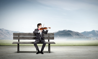 Man playing violin