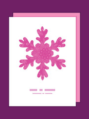Vector pink abstract flowers texture Christmas snowflake