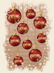 Christmas sale discount balls, vector illustration