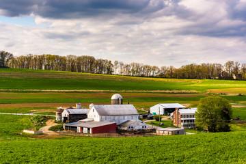 View of a farm in rural York County, Pennsylvania.