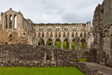 Ruins of ancient Abbey in England.