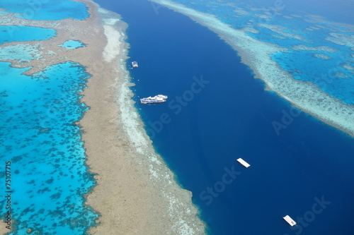 Plexiglas Luchtfoto Great barrier reef 4 australia